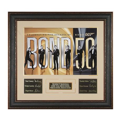 James Bond // 50 Year Collectible // Facsimile Signature Display
