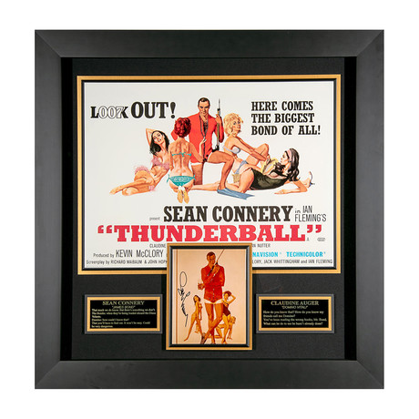 Sean Connery // Thunderball Autographed Display