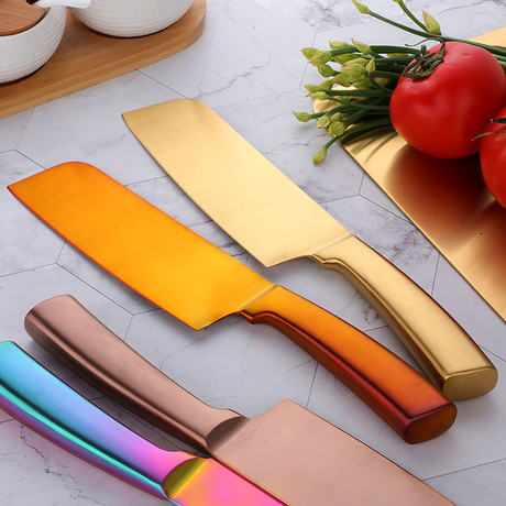 Minimal Japanese Chef Knife (Rainbow)