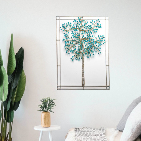 "Aspen Teal 18"" Tree of Dreams"