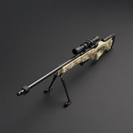 L96 Sniper Rifle 1:3 Scale Diecast Metal Model Gun + Scope + Bipod // ACU