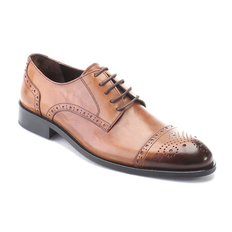 Posiden Perforated Cap Toe Brogue Derby // Dark Walnut (Euro: 40)