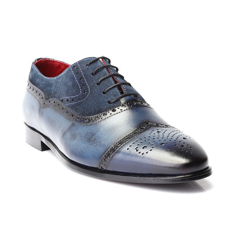 Bodhi Dress Shoes // Dark Blue (Euro: 40)