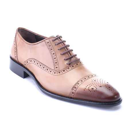 Zion Perforated Cap Toe Brogue Derby // Walnut (Euro: 40)