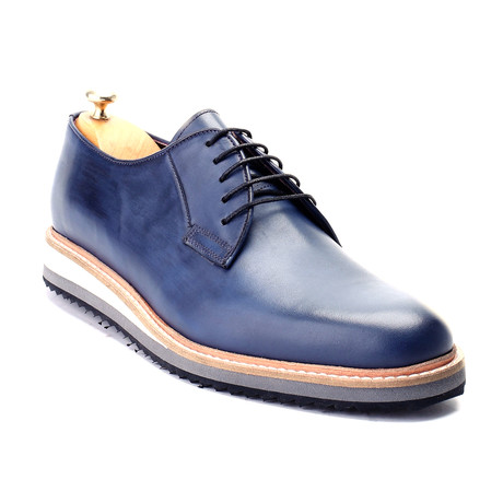 Zeus Dress Shoes // Dark Blue (Euro: 39)