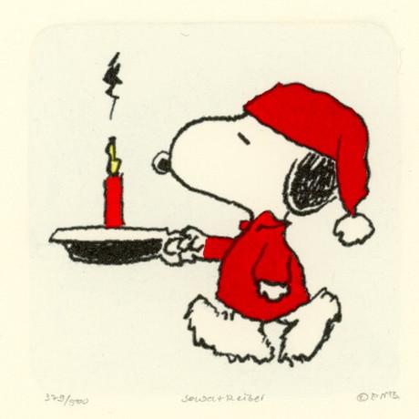 Snoopy // Still Asleep //  Hand Painted Sowa & Reiser Etching (Unframed)
