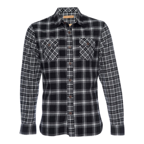 Truman Outdoor Plaid Shirt // Black (XS)
