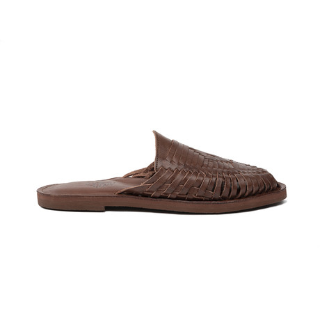 Cocoa Huarache Slide // Dark Brown + Dark Brown Insole (US Size 8)