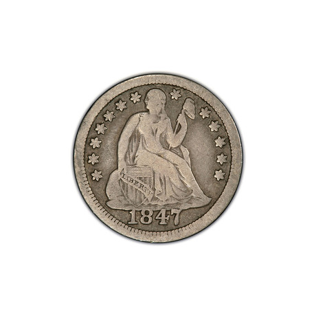 U.S. Liberty Seated Silver Dime (1838-1891) // American Premier Coinage Series // Wood Presentation Box