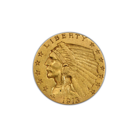 U.S. $2.50 Indian Head Gold Piece (1908-1929) // American Premier Coinage Series // Wood Presentation Box