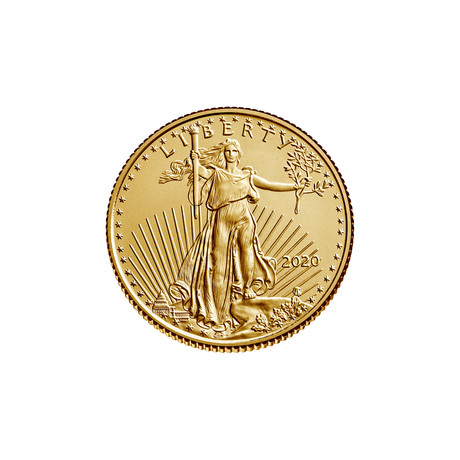 2020 1/10 oz American Gold Eagle (22 karat) // Mint State Condition // American Premier Series // Wood Presentation Box