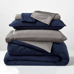 RECOVERS Bedding Set // Navy + Graphite (Full/Queen)