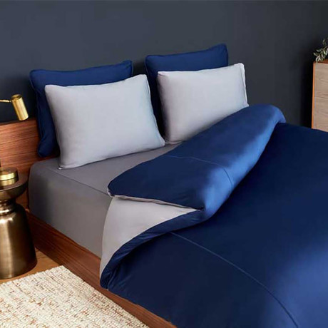 RECOVERS Bedding Set // Navy + Graphite (King / Cal King)