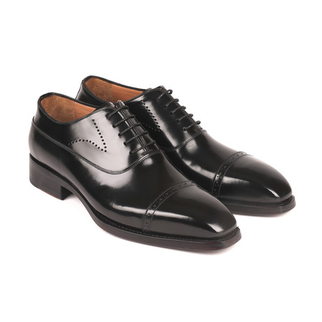 Goodyear Welted Cap Toe Oxfords // Black (Euro: 38)