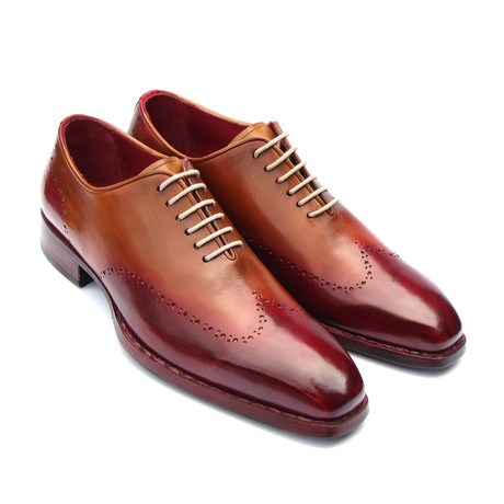 Goodyear Welted Wingtip Oxfords // Bordeaux + Camel (Euro: 38)