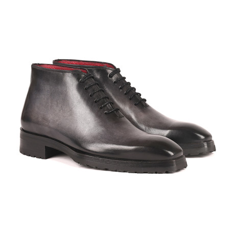 Burnished Ankle Boots // Gray (Euro: 38)