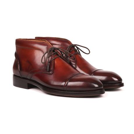 Cap Toe Chukka Boots // Brown (Euro: 38)