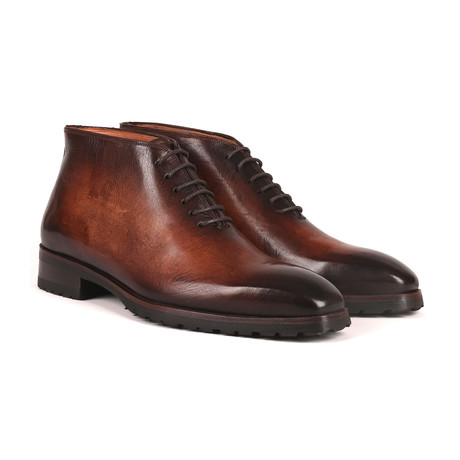 Burnished Ankle Boots // Brown (Euro: 38)