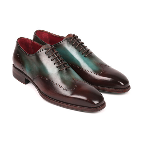 Goodyear Welted Wingtip Oxfords // Brown + Turquoise (Euro: 38)