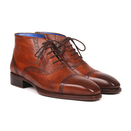 Antique Leather Cap Toe Ankle Boots // Brown (Euro: 38)