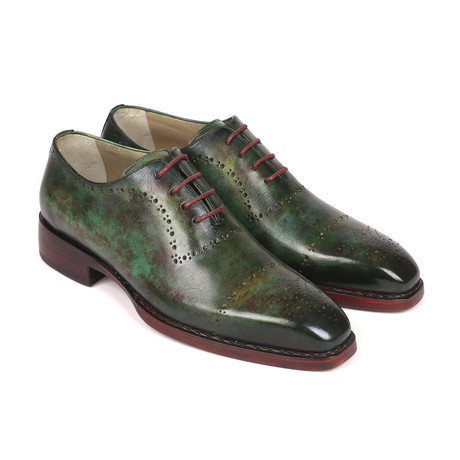 Patina Goodyear Welted Oxfords // Green (Euro: 38)