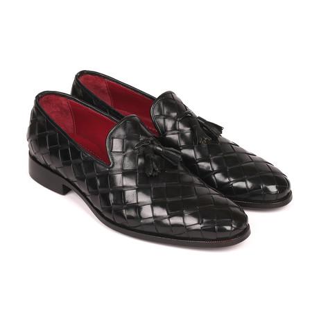 Big Braided Tassel Loafers // Black (Euro: 38)