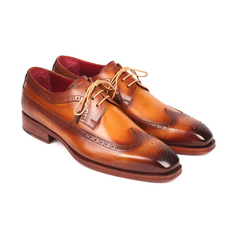 Goodyear Welted Wingtip Derby Shoes // Camel (Euro: 38)