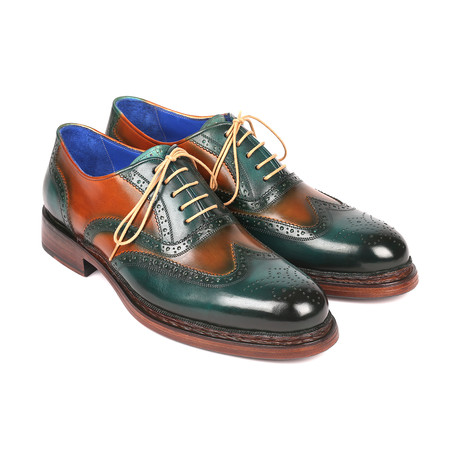 Wingtip Goodyear Welted Oxfords // Green + Tobacco (Euro: 38)