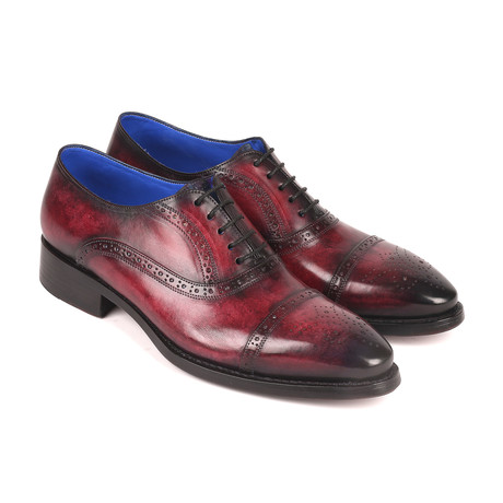 Burnished Goodyear Oxford Shoes // Bordeaux (Euro: 38)