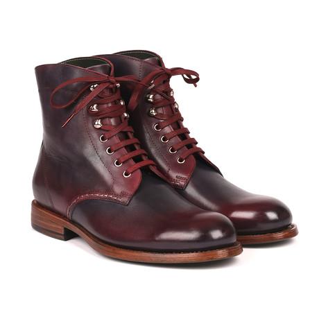 Leather Boots // Bordeaux + Navy (Euro: 38)