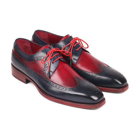Goodyear Welted Wingtip Derby Shoes // Navy + Bordeaux (Euro: 38)