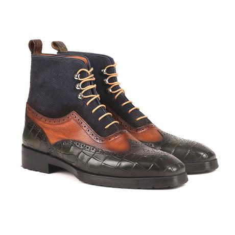 Three Tone Wingtip Boots + Rubber Sole II // Multicolor (Euro: 38)