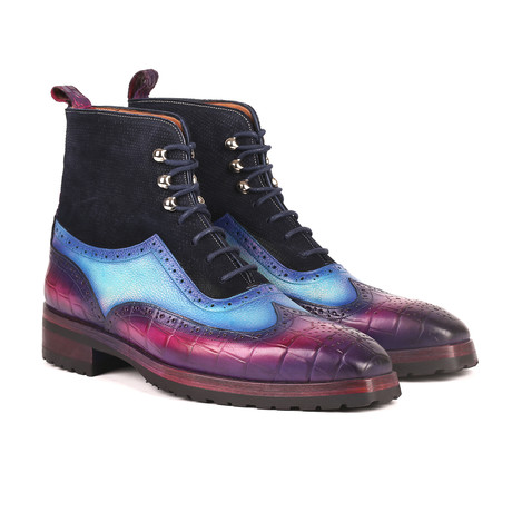 Three Tone Wingtip Boots + Rubber Sole I // Multicolor (Euro: 38)