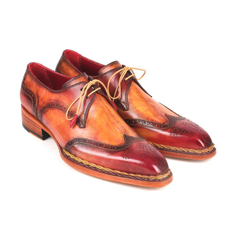 Norwegian Welted Wingtip Derby Shoes // Red + Camel (Euro: 38)