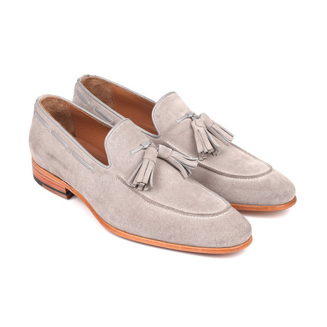 Tassel Suede Loafers // Gray (Euro: 38)