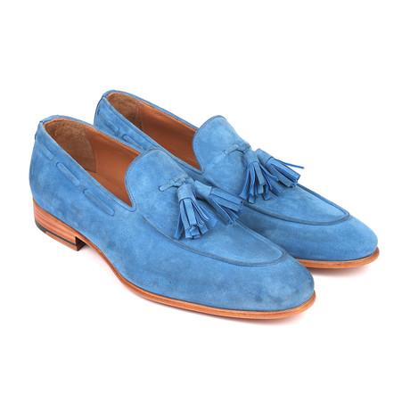 Tassel Suede Loafers // Blue (Euro: 38)