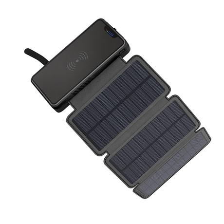 QiSa // Solar Power Bank // Black