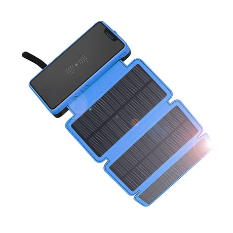 QiSa // Solar Power Bank (Blue) - QiSa - Touch of Modern
