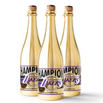 Lakers 2020 Championship Gold Bubbly // Set of 3 // 750 ml Each