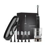 AquaSonic PRO // Ultrasonic Toothbrush + Charging Glass + 6 Brush Heads + Travel Case