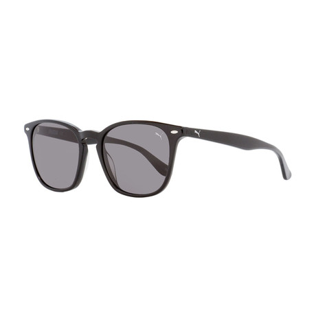 Puma // Unisex Square Sunglasses // Shiny Black