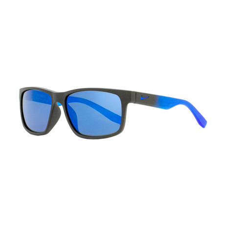 Nike // Unisex Cruiser Square Sunglasses // Matte Black + Blue