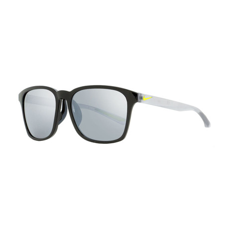 Nike // Unisex Flare Square Sunglasses // Shiny Black + Frost