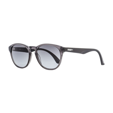 Puma // Unisex Oval Sunglasses // Transparent Gray + Black