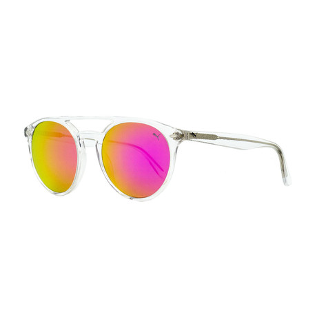 Puma // Unisex Oval Sunglasses // Crystal