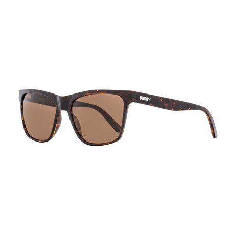 Puma // Unisex Hampton Rectangular Sunglasses // Havana