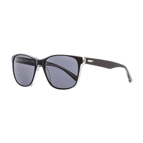 Puma // Unisex Gramercy Rectangular Sunglasses // Black + Crystal
