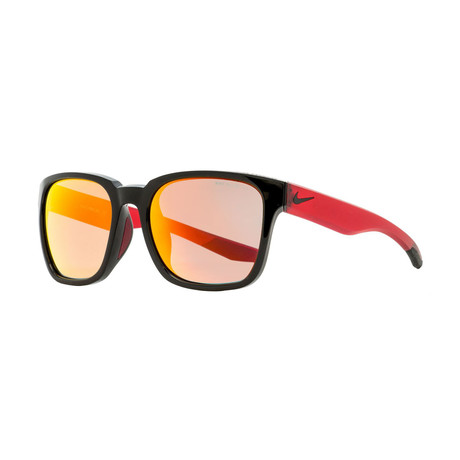 Nike // Unisex Recover Square Sunglasses Recover // Black + Matte Red
