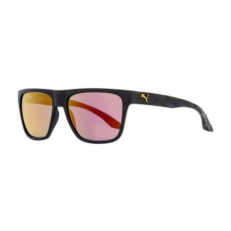 Puma // Unisex Rectangular Sunglasses // Black