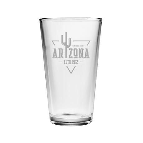 Pint Glasses // Arizona State Vintage Series // Set of 4